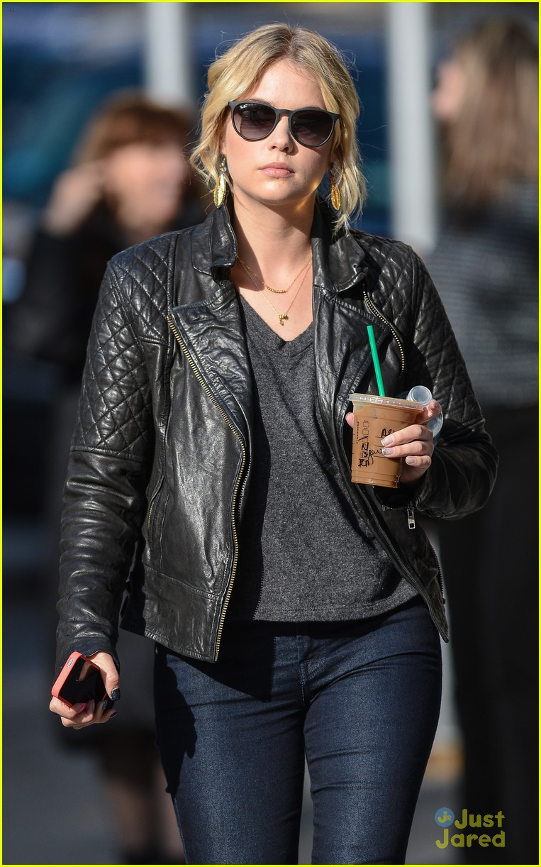 ashley benson starbucks nyc 02