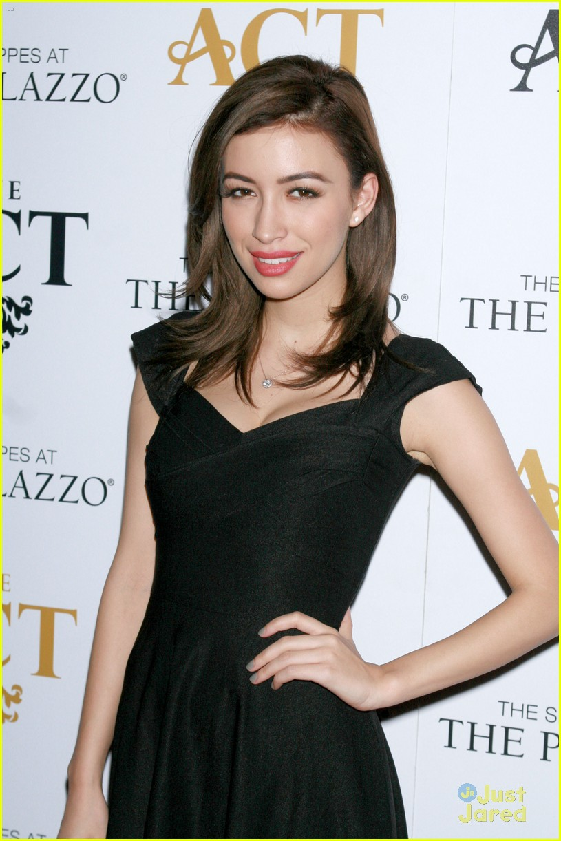 christian serratos vegas holiday party 01