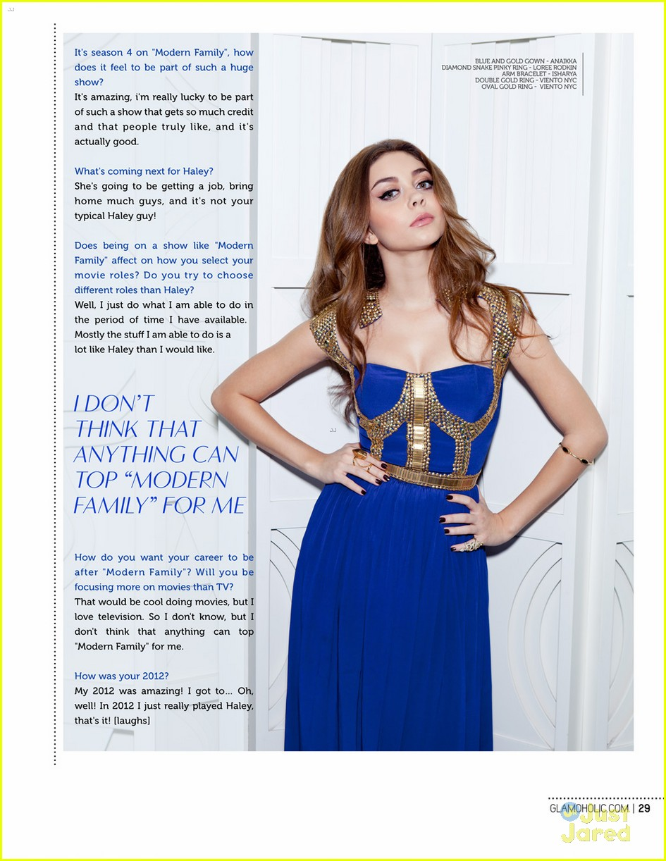 sarah hyland glamoholic december cover 10