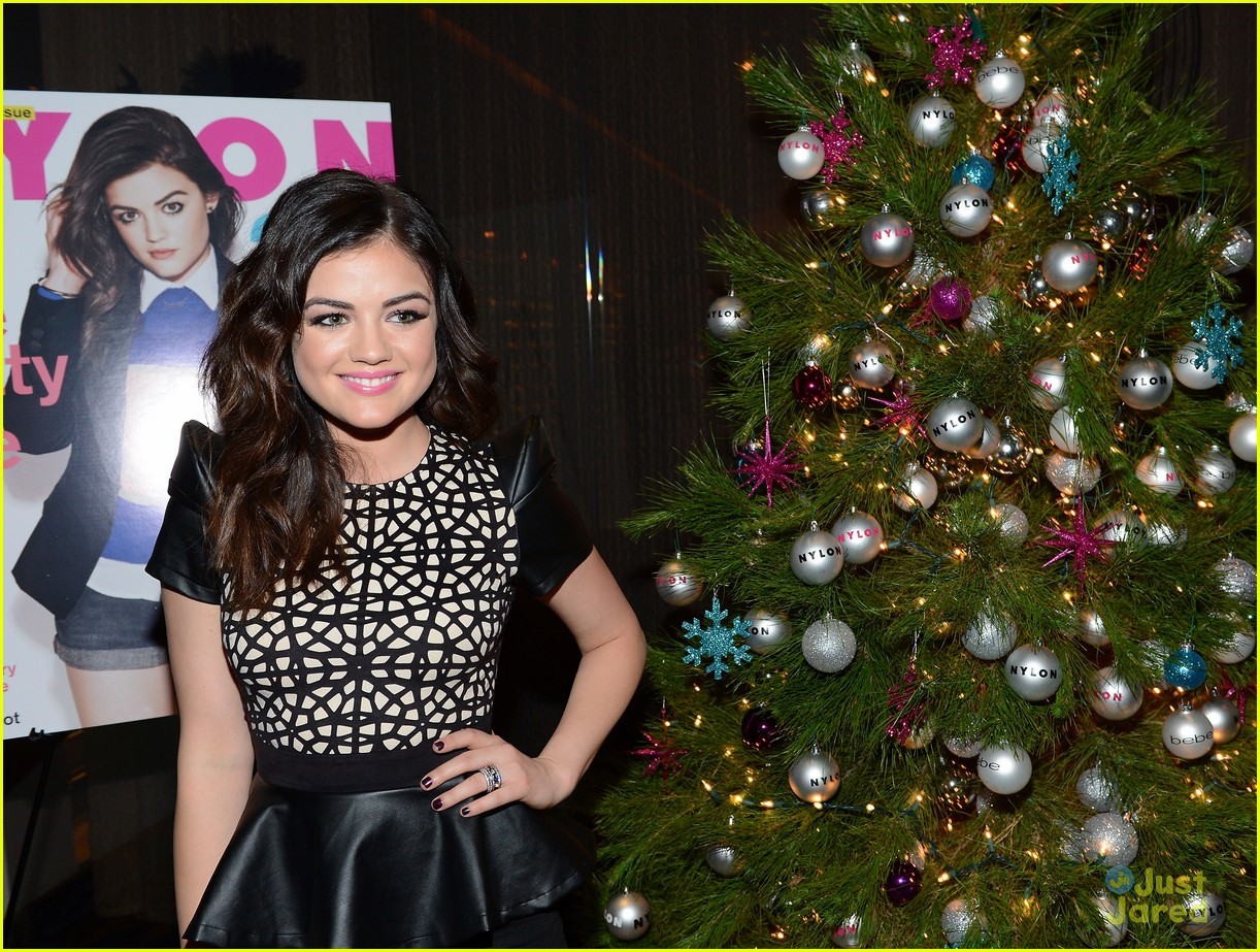 lucy hale nylon cover dinner 11