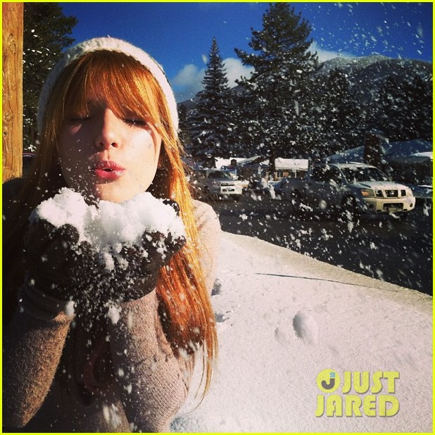 bella thorne snow tubing 03