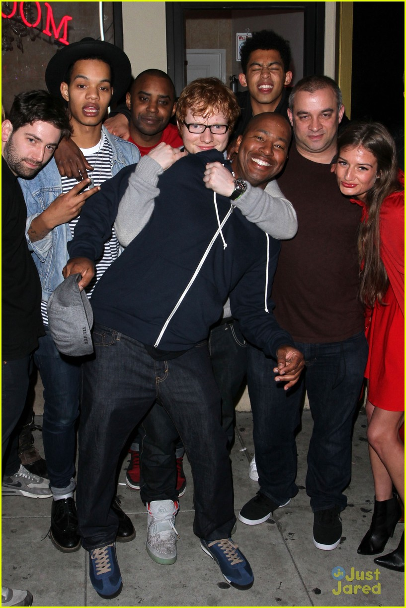 ed sheeran post concert birthday bash 02