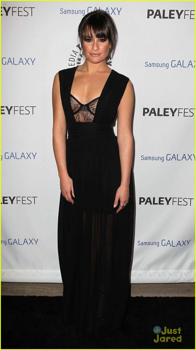 lea michele cory monteith inaugural paleyfest icon award pair 01