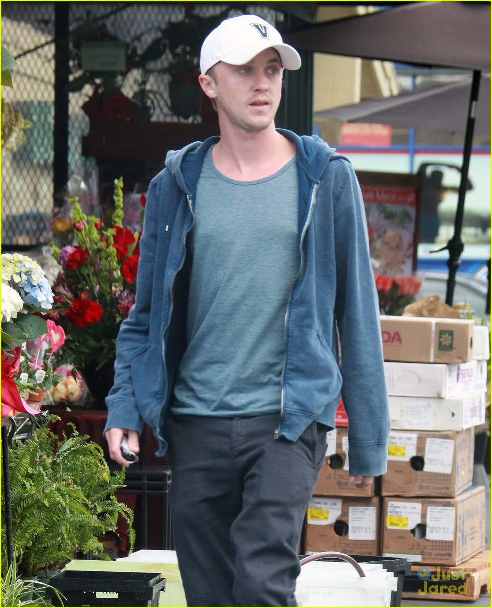 tom felton white cap 02