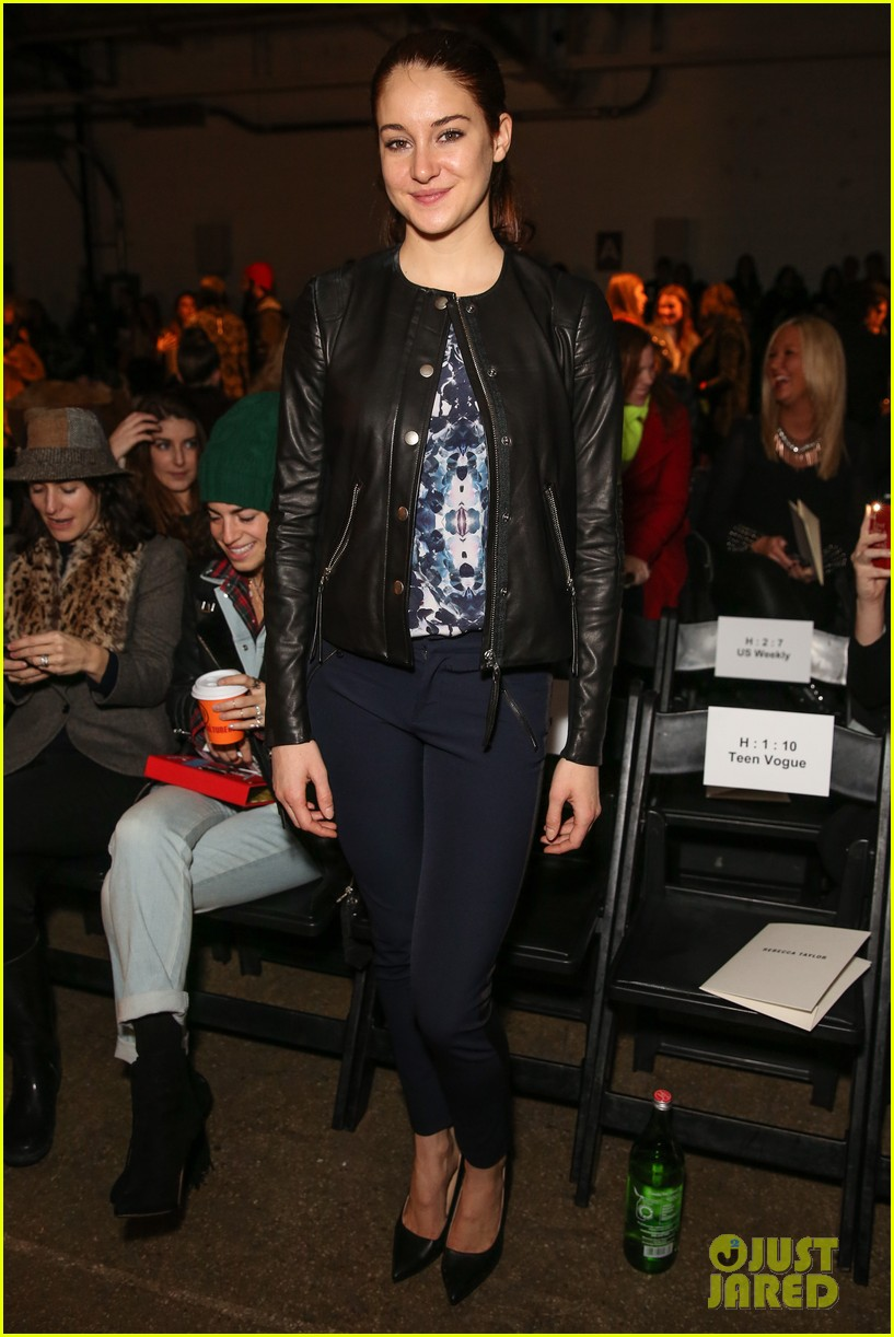 shailene woodley front row nyfw 11