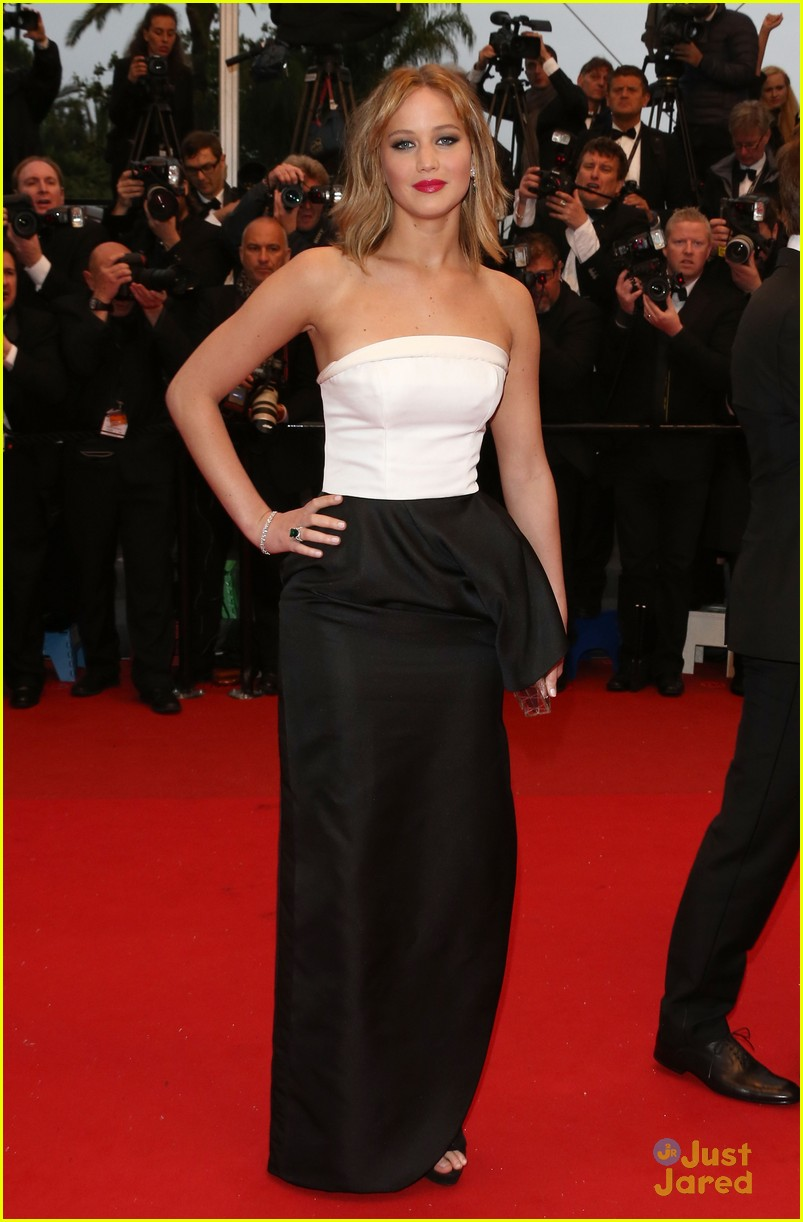 About This Photo Set: Jennifer Lawrence is a vision in white on the