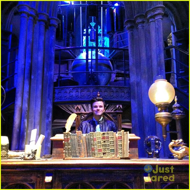 chris colfer hp studio tour london 02
