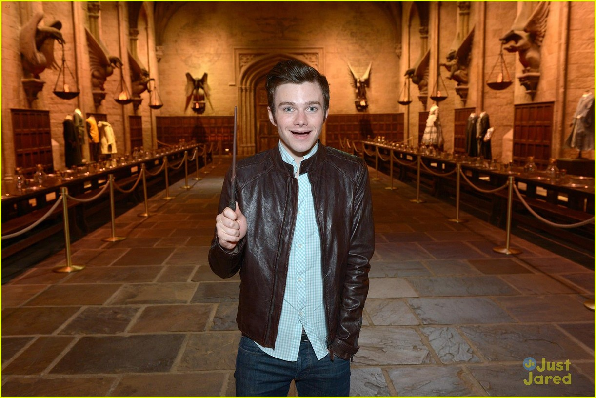 chris colfer hp studio tour london 08