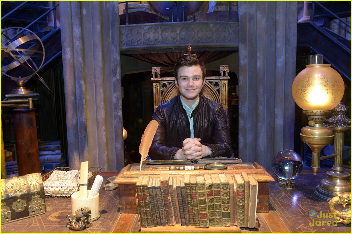 chris colfer hp studio tour london 17