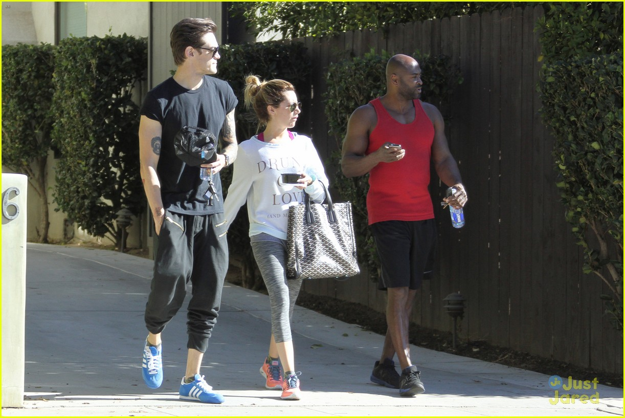ashley tisdale christopher french mid week workout 05