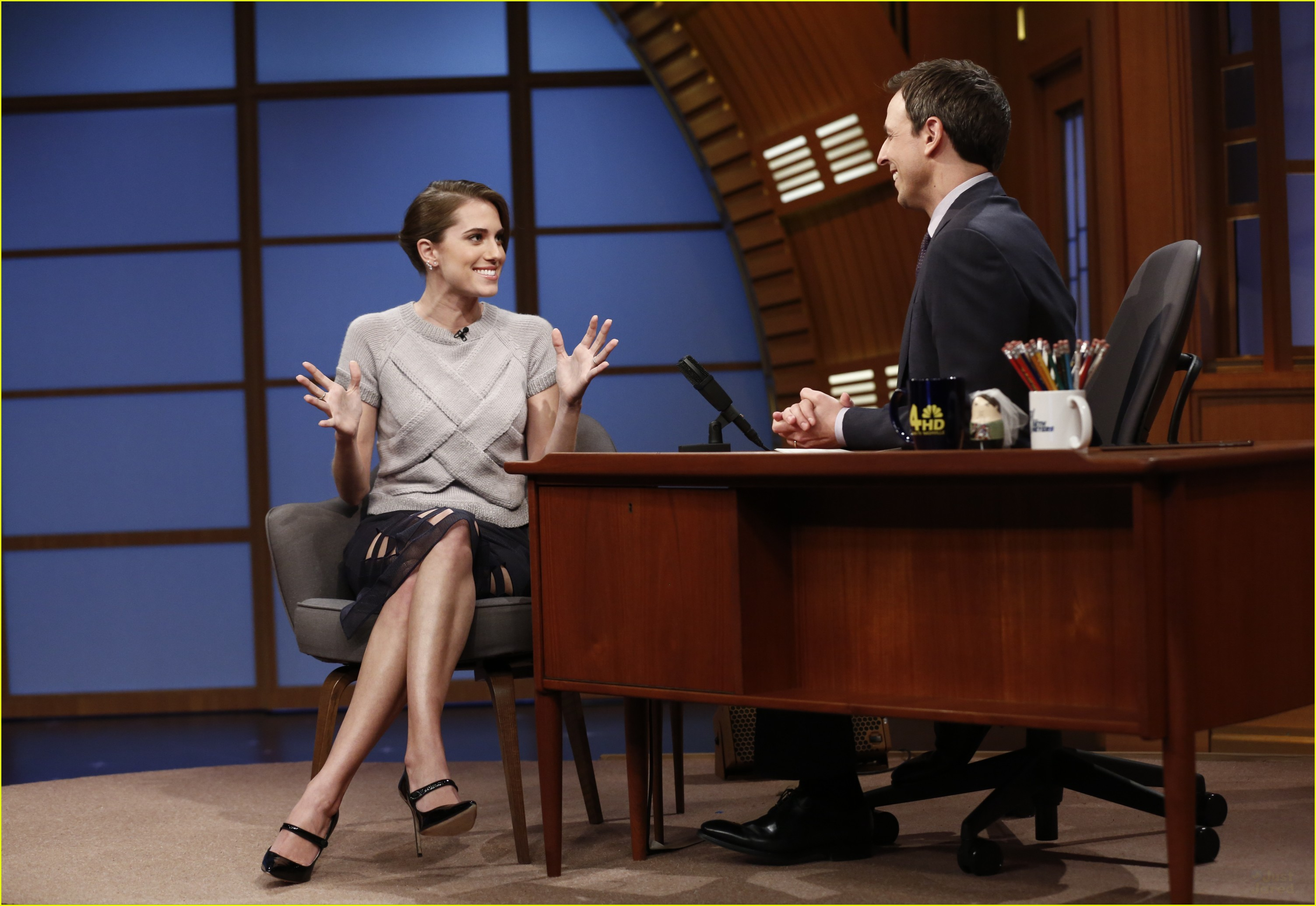 Allison Williams Shows Off Engagement Ring On 'late Night With Seth Meyers'   Photo 649564  Photo Gallery  Just Jared Jr