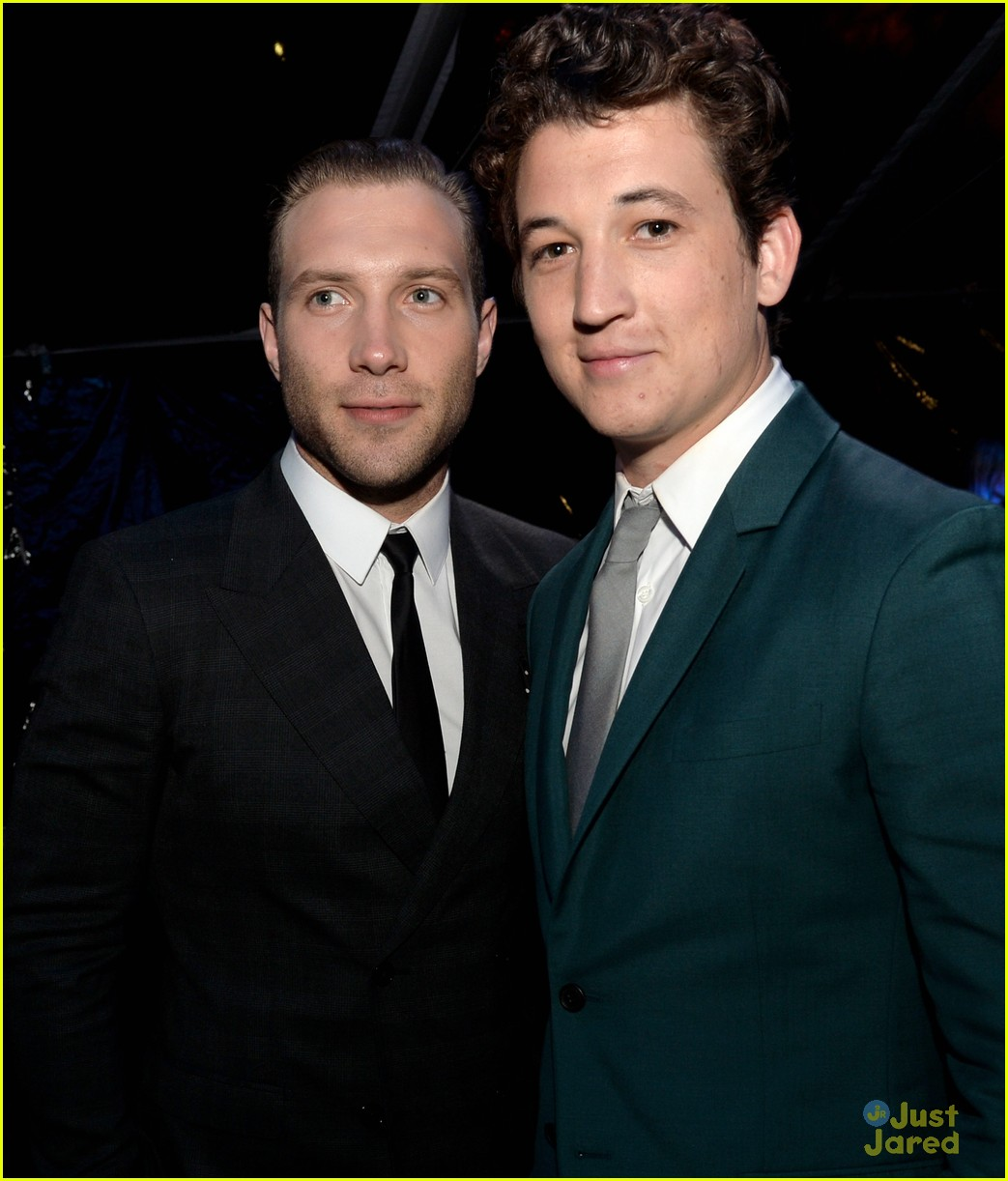 Jai Courtney and Miles Teller at the Divergent premiere in LA