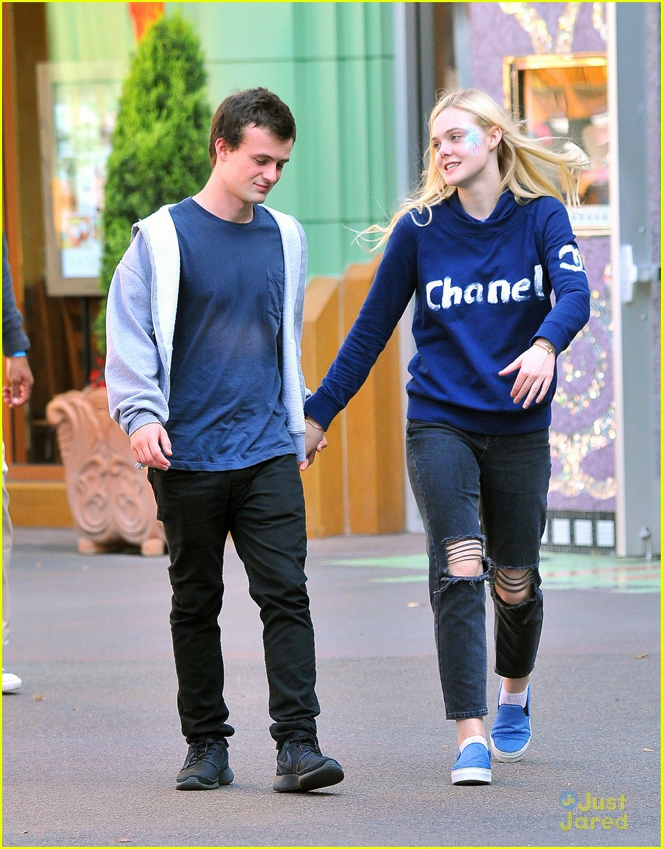 Elle Fanning And Boyfriend Elle Fanning Wears