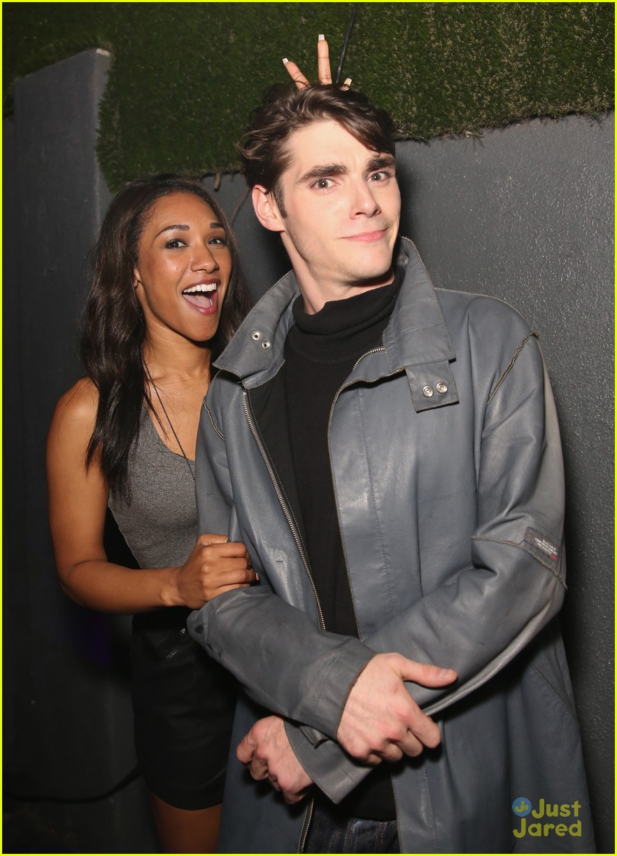 Candice Patton Gets Silly With Rj Mitte At Ok Magazine