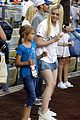 Elle-pitch elle fanning first pitch dodgers game 01