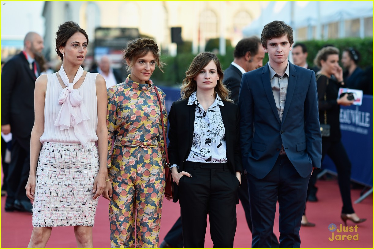 Freddie Highmore & Astrid Berges-Frisbey Hit the Deauville ...