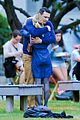 James-kiss james franco emma roberts kiss park michael filming 25