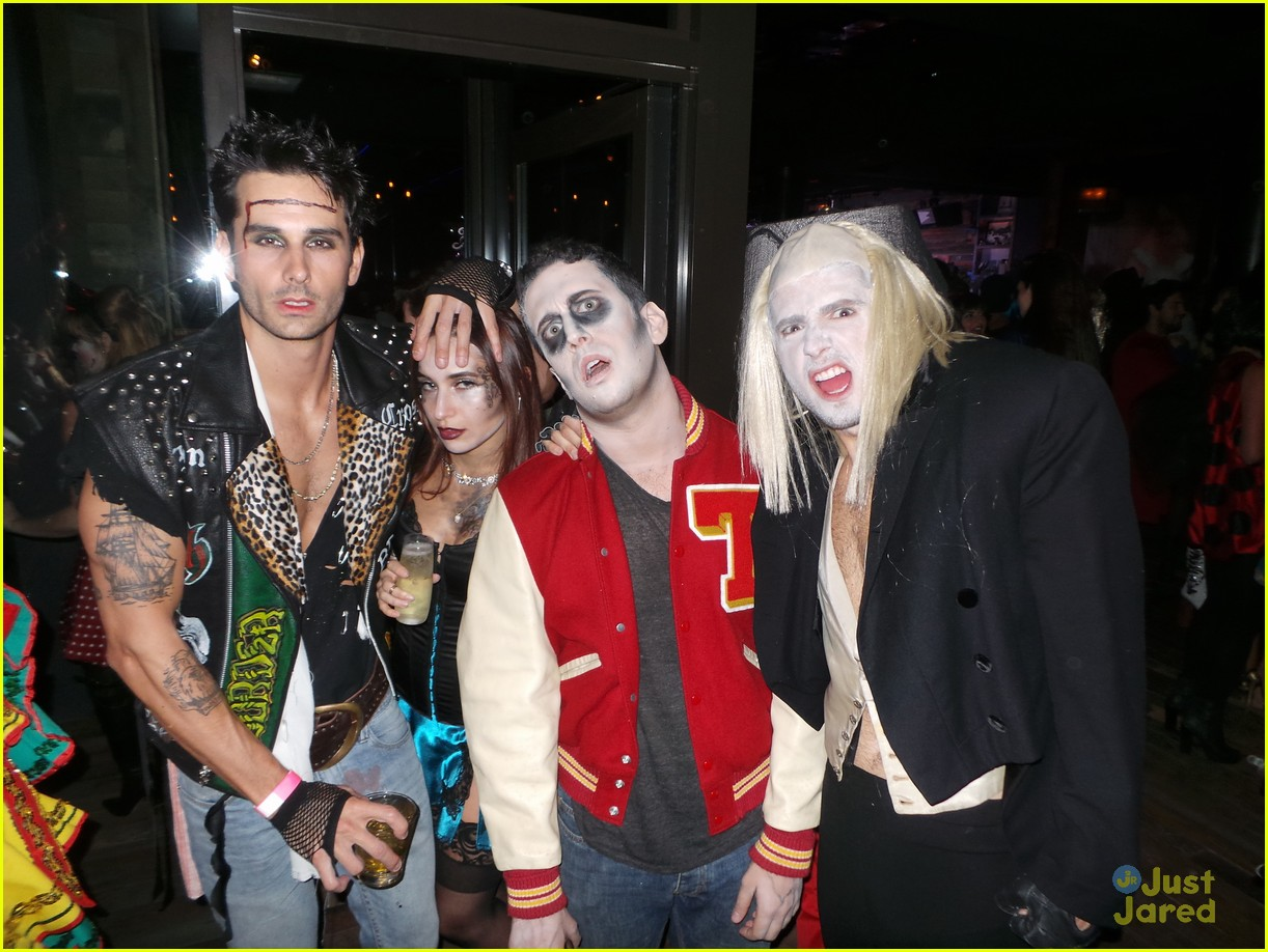 Mark Salling & Ashley Madekwe Party it Up for Halloween | Photo ...
