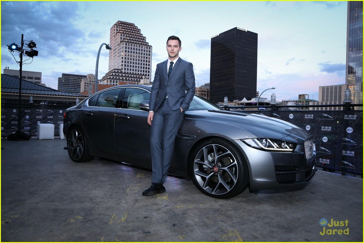 photo of Nicholas Hoult Aston Martin - car