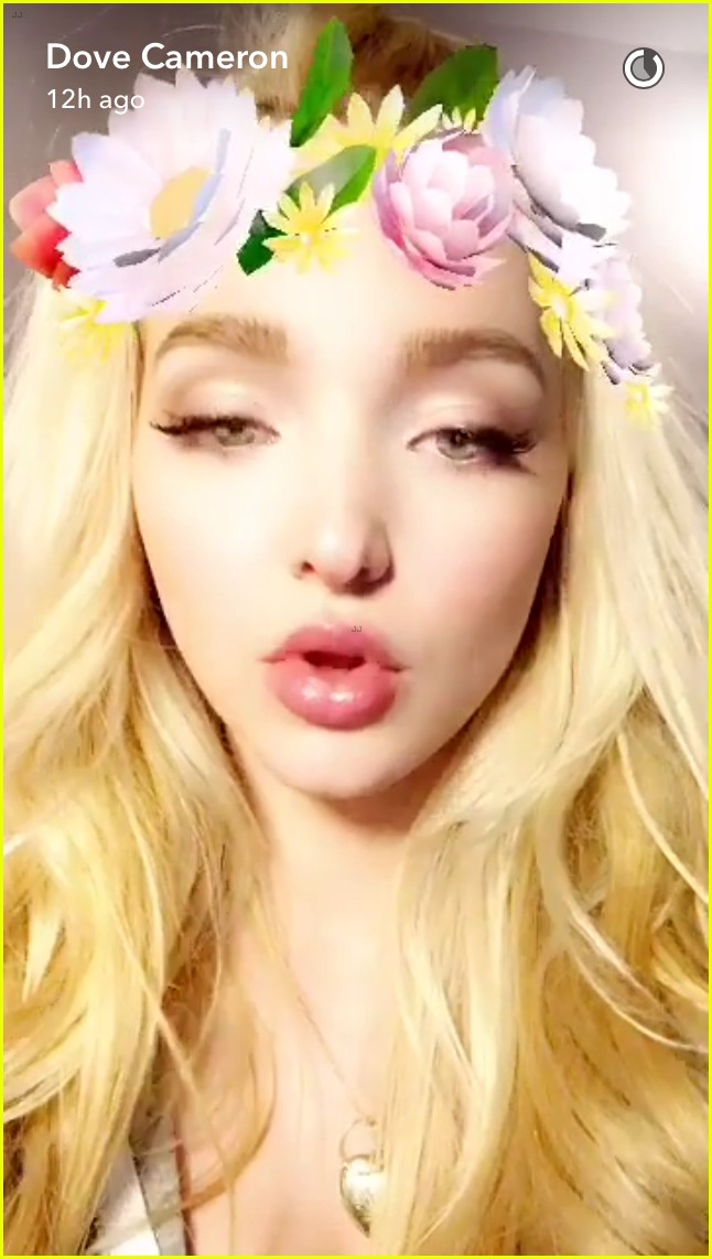 dove cameron shows off her engagement ring on snapchat photo 967443