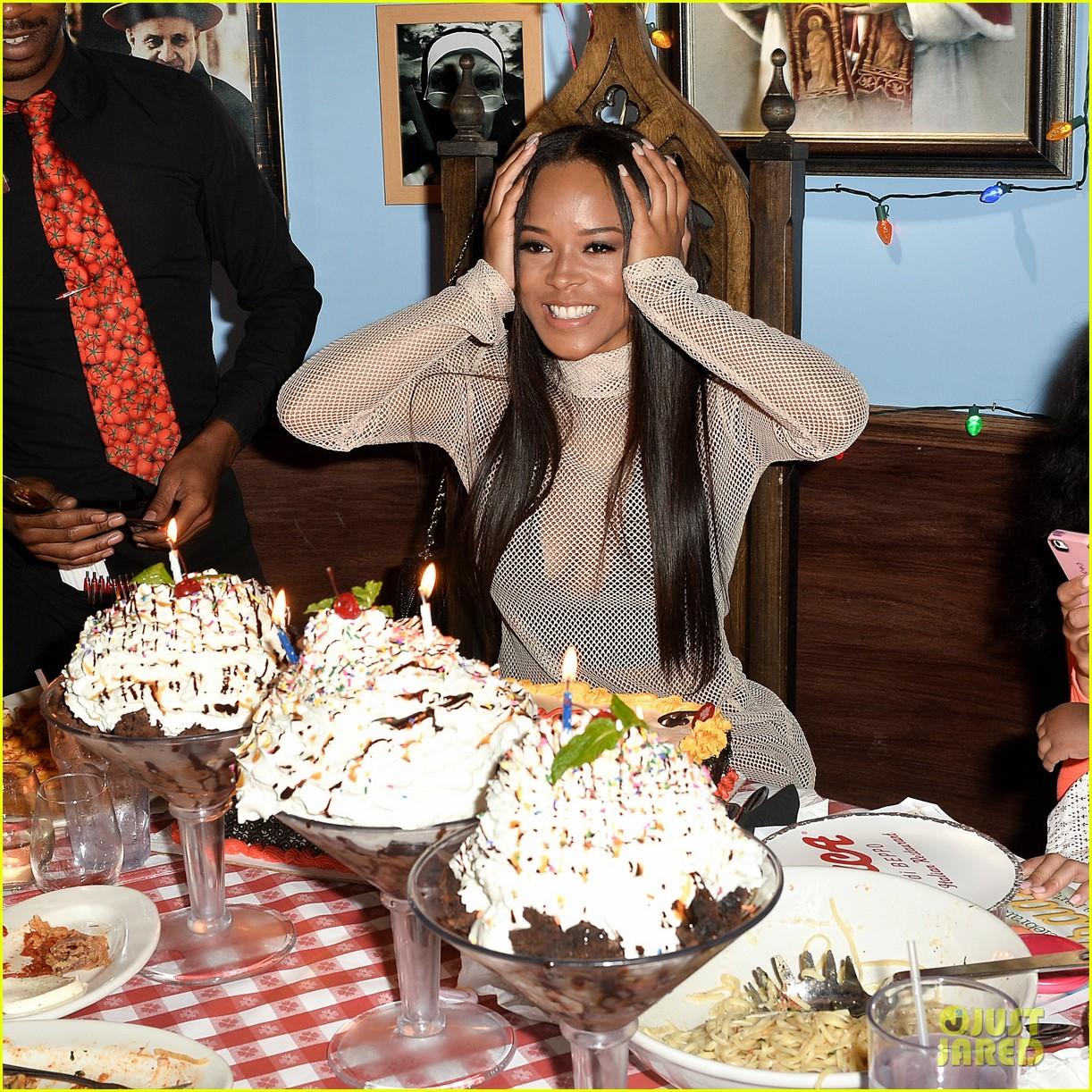 Serayah Celebrates 21st Birthday With Dinner In LA