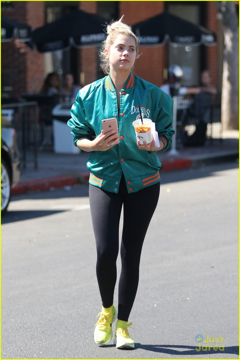 ashley benson shares pll msgs norman charlie dolphins jacket 11