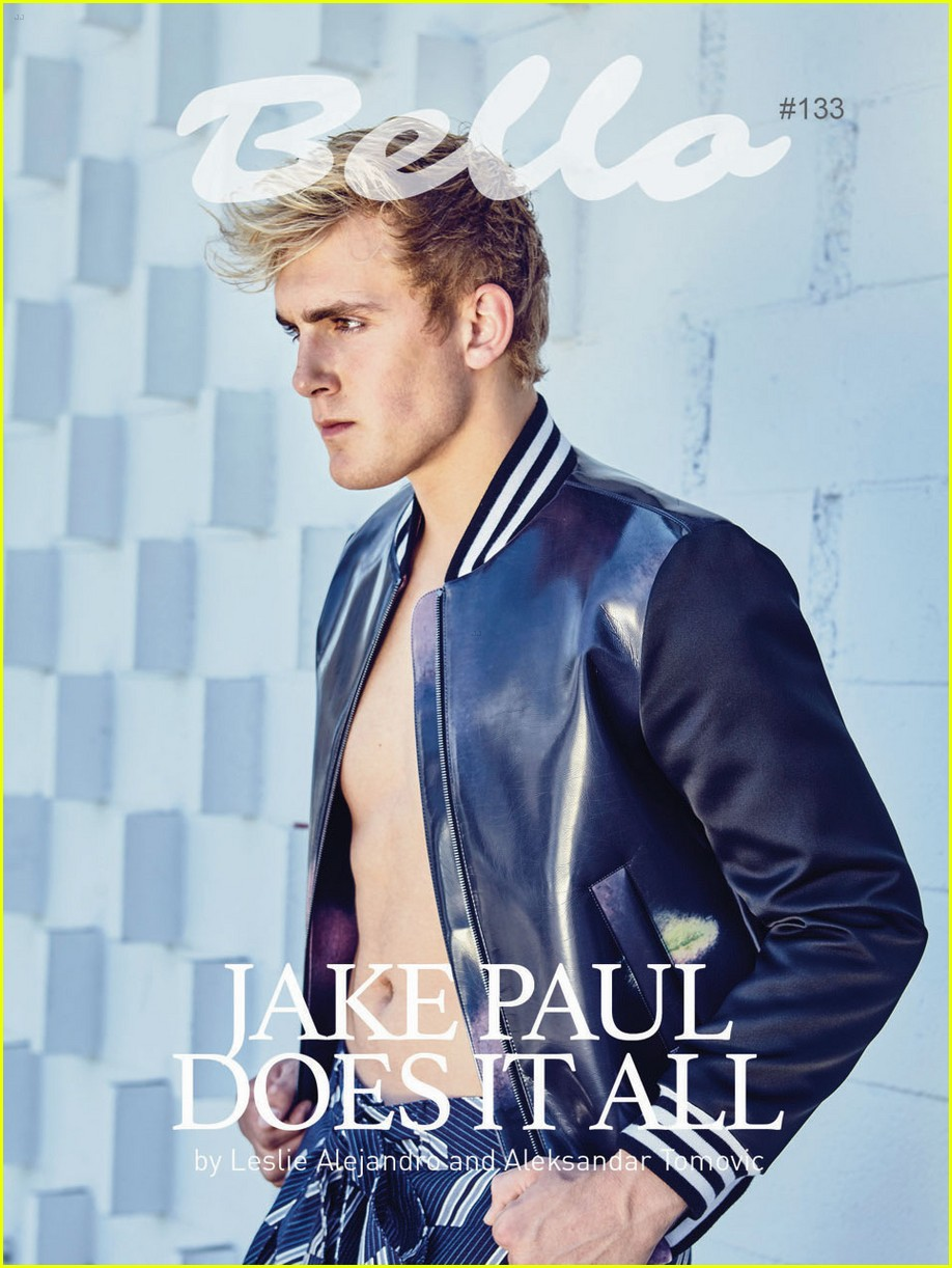 jake paul shirtless back book bello mag feature 01.