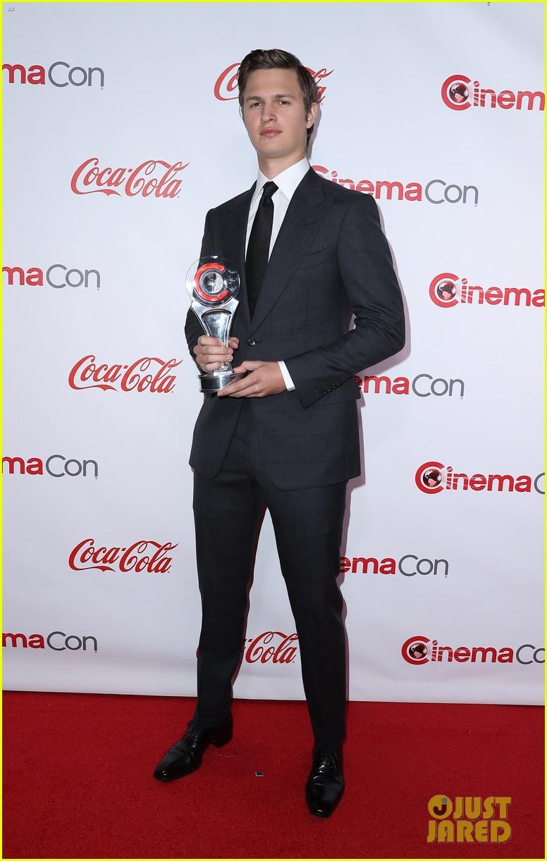 ansel elgort brenton thwaites and isabela moner win big at cinemacon 2017 04