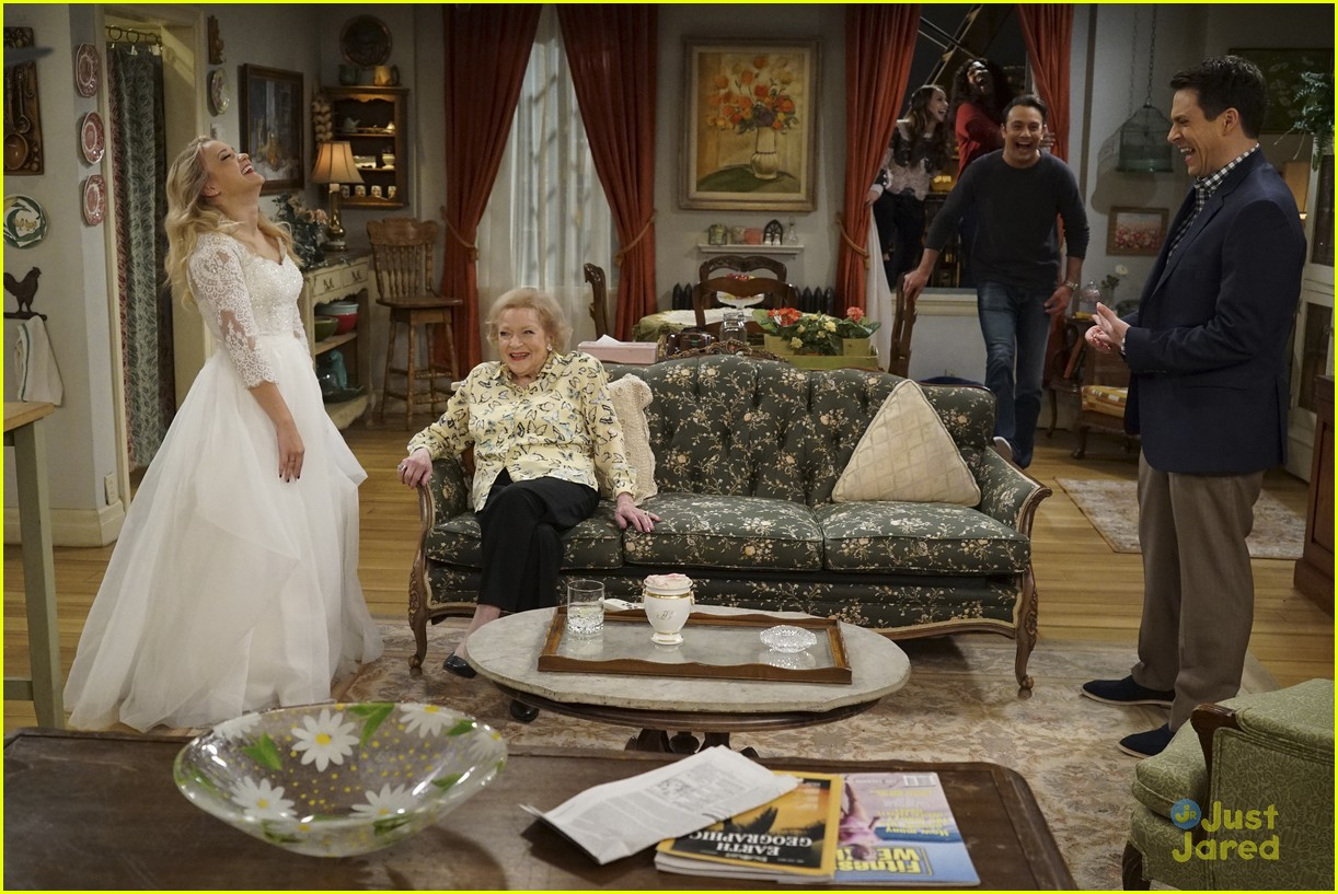 emily osment wedding dress episode betty white young hungry 13