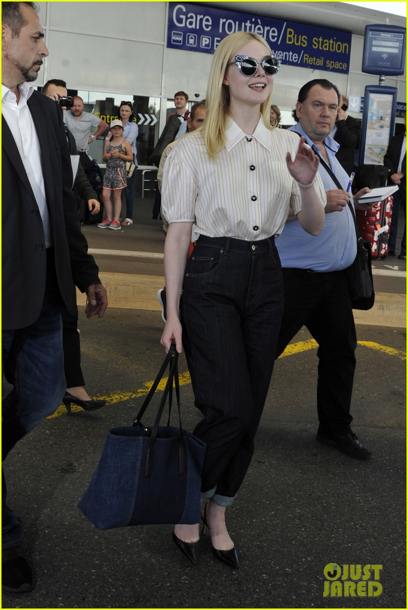 bella hadid elle fanning arrive for cannes film festival 01