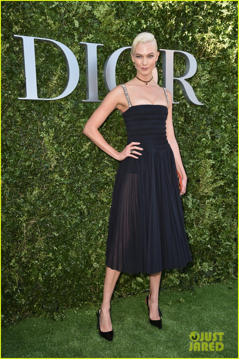 bella hadid wears sheer dress for dior exhibition opening 03