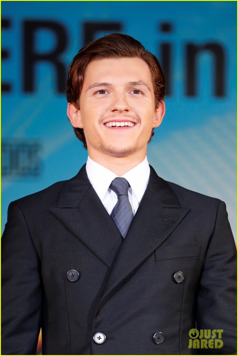 tom holland suits up for spider man homecoming tokyo premiere 02