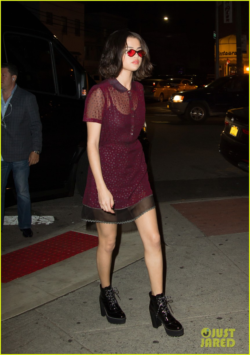 selena gomez stuns in sheer for dinner in nyc 07