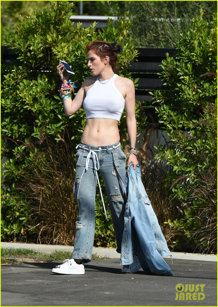 bella thorne busts a move with mod sun outside dance studio 13