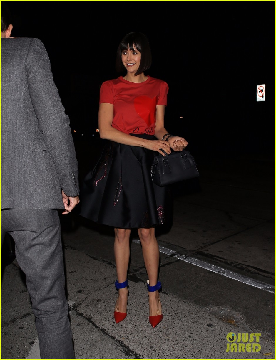 nina dobrev looks chic while out to dinner with publicist 03