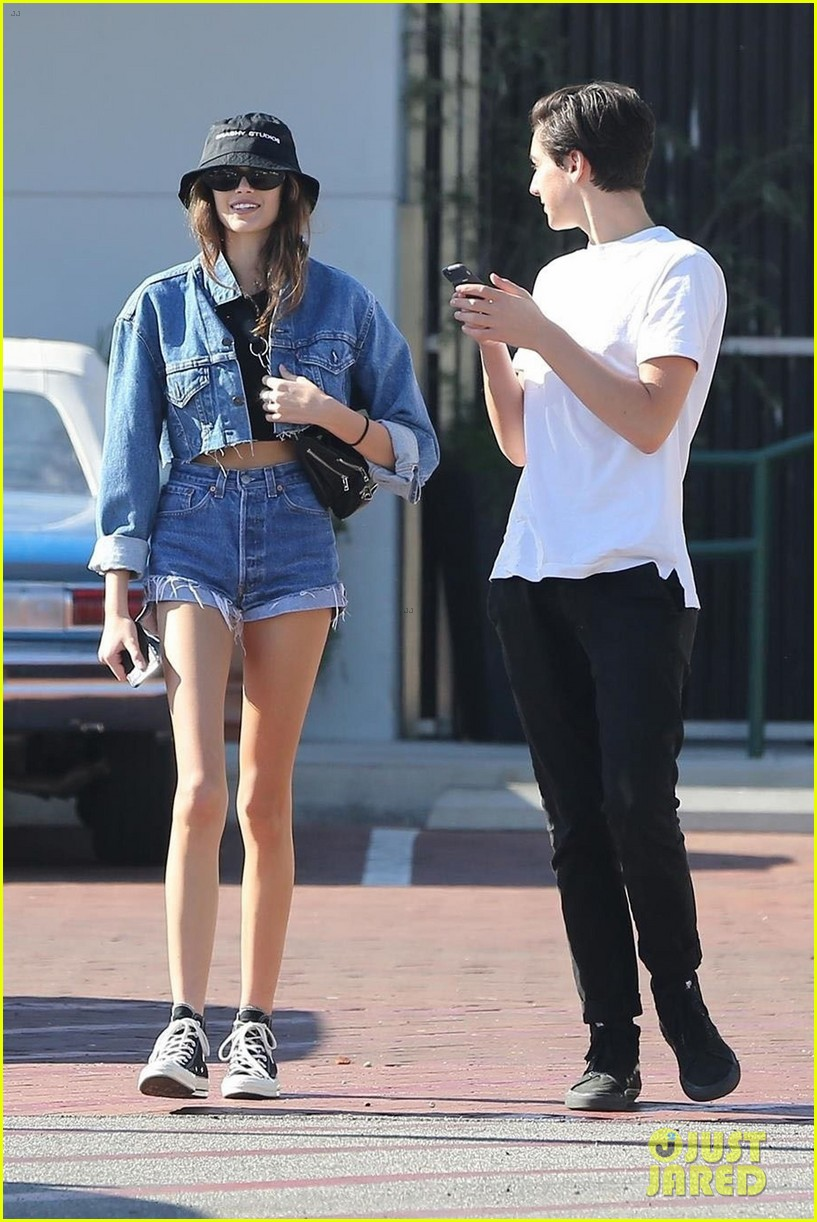 kaia gerber rocks double denim while out and about in malibu 04