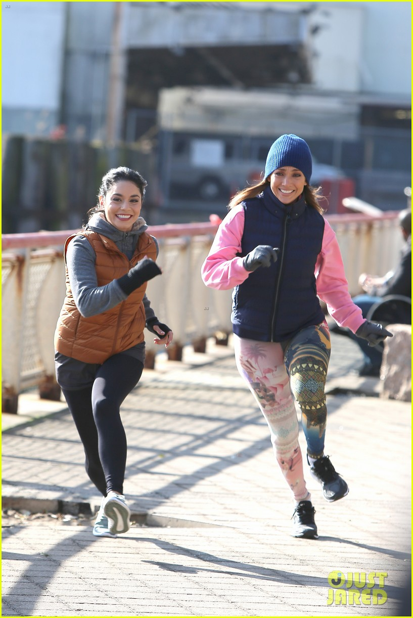 jennifer lopez gets back to work on second act with vanessa hudgens leah remini 09